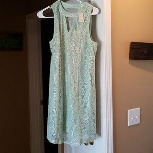 NWT Lace Light Green sleeveless dress